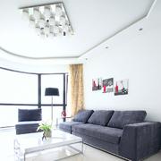 纯情白色客厅设计