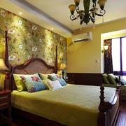 美式卧室背景墙
