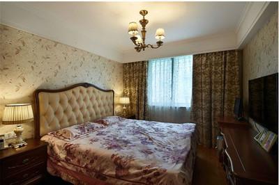 2015美式臥室壁紙裝修效果圖