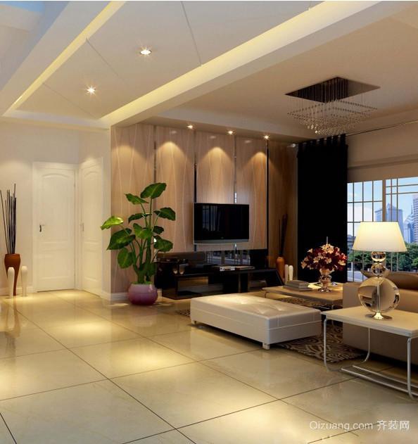 2015大户型迷人欧式客厅装修效果图