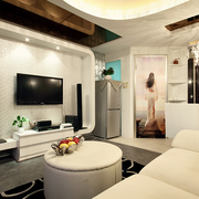 公寓摩登电视背景墙