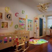 儿童房彩色墙面