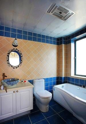 地中海风格清新简约宜家卫生间装修效果图