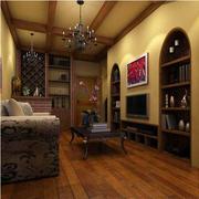 美式温馨客厅书柜