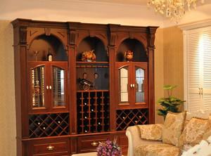 小别墅自带欧式奢华酒柜装修效果图