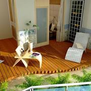 别墅露台花园效果图