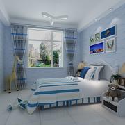 梦幻蓝色卧室设计