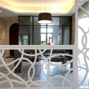 餐厅玻璃屏风设计