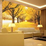 客厅秋景背景墙