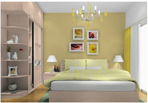 清新黄色卧室设计