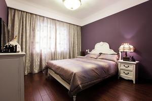 像紫罗兰一样高贵的都市风格卧室背景墙装修效果图鉴赏