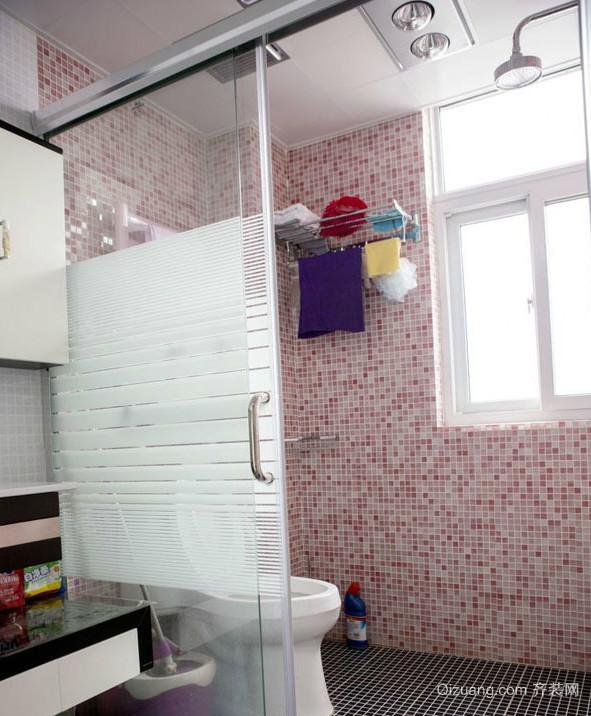 甜美可人的粉色卫生间设计装修效果图欣赏