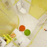 橙色靓丽的卫生间