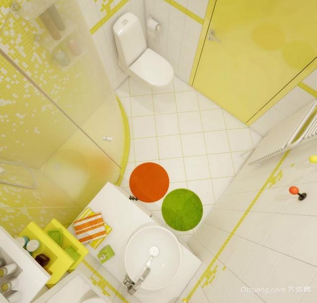 2015动感绿色田园卫生间设计装修效果图欣赏