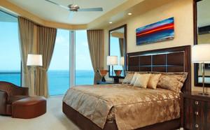 50平米现代简约风格轻快卧室背景墙装修效果图