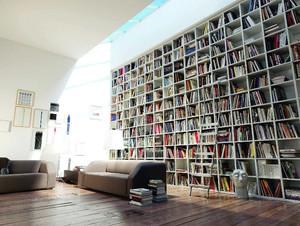 都市时尚家庭图书馆装修效果图