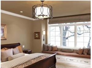 2015中式卧室大户型飘窗装修效果图