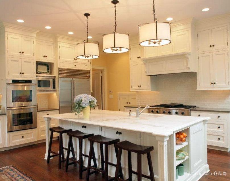 90平米大户型欧式精装厨房吧台装修效果图