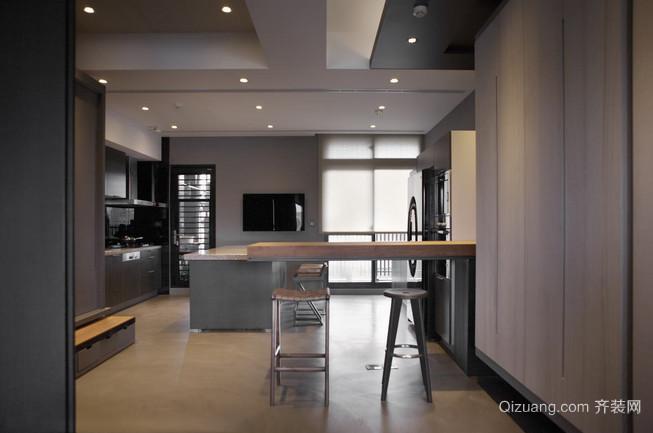 气派浪漫的银灰色吧台设计装修效果图鉴赏