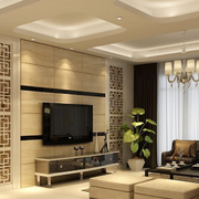 米白色优雅电视墙