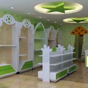 清新绿色的孕婴店