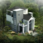 现代时尚的别墅