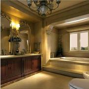 别墅卫生间美式浴室柜