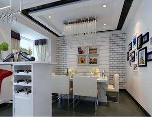 90平米大户型具有时尚现代餐厅装修效果图