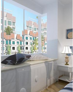 2015地中海风格大户型卧室飘窗装修效果图