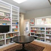 现代家居客厅书柜