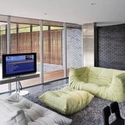 客厅绿色舒适沙发
