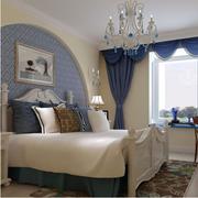 恬淡色调卧室效果图