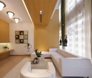现代各式各样的复式楼电动窗帘装修效果图