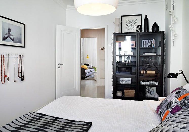 北欧风格卧室背景墙装修效果图