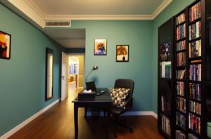 灵感之都蓝色现代风格书房设计装修效果图鉴赏