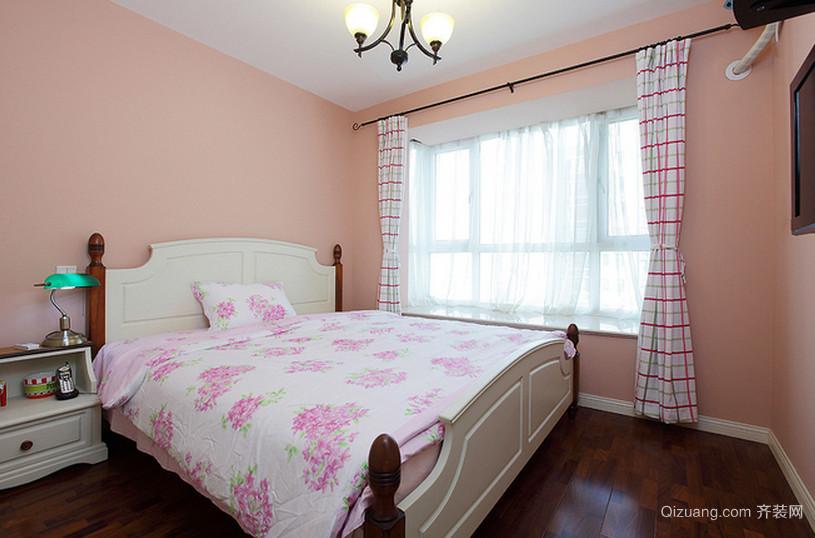 温柔甜美的粉色卧室背景墙装修效果图鉴赏