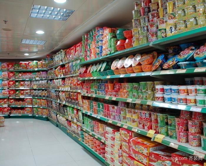 大型便民超市货架装修效果图