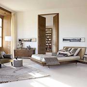 原木色的家居卧室