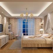 温馨素雅卧室窗帘
