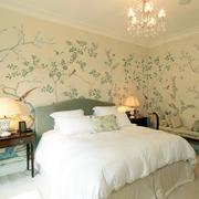 卧室绿色壁纸展示