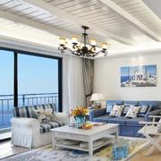 小户型客厅白色吊顶