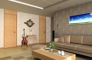绿色田园风格90平方米房屋装修效果图大全