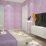 紫色的卧室墙衣