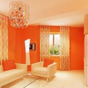 橙色小户型客厅欣赏