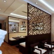 中式风格餐厅屏风