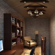 新中式书房吊顶展示