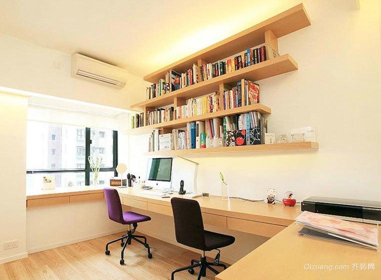 2015简约型都市现代小书房装修效果图