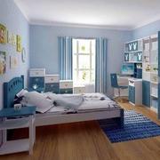 蓝色时尚儿童房