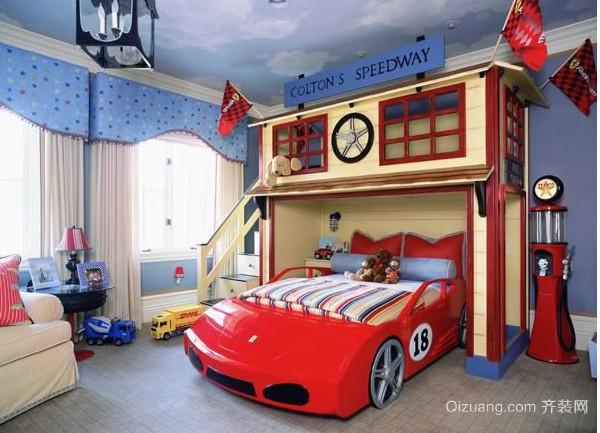 2015现代时尚动感的儿童房装修效果图