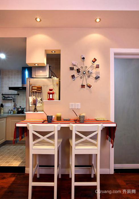 时尚大方的红色都市风格吧台设计装修效果图